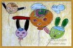 气球娃娃儿童画