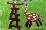 我和小鹿儿童画