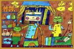 机器人看病儿童画