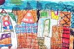 我的高楼大厦儿童画作品欣赏