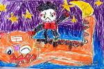 儿童画/武松打虎油画棒儿童画