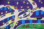 夜晚的立交桥儿童画作品欣赏
