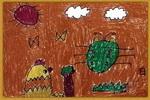 小鸭的早餐儿童画