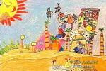没有水的世界儿童画作品欣赏