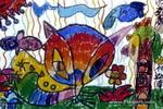 睁着眼睛睡大觉儿童画作品欣赏