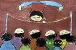 好看的杂技表演儿童画2幅