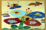 美丽的蝴蝶花儿童画