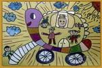 蜗牛汽车儿童画