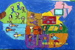 迎接新奥运儿童画
