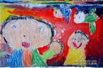 爸爸和我儿童画作品欣赏
