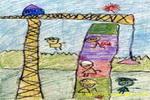 盖大楼儿童画