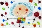 甜甜的棒棒糖油画棒儿童画