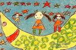 月亮舞台儿童画图片