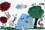 蜗牛与小鸟儿童画