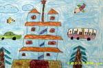郑州有个二七塔儿童画