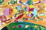 骑驴唱儿童画