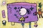看,我上电视了儿童画