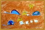 海龟赛跑儿童画