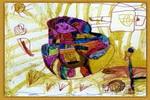 可爱的老鼠司机儿童画