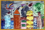 快乐城堡儿童画3幅