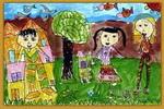 家庭时装表演儿童画
