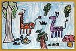 动物与自然儿童画