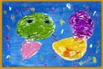 火星来客儿童画