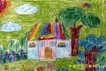 美丽的家乡儿童画3幅