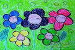 朵朵花儿盼奥运儿童画图片