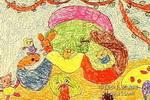 森林火车儿童画2幅
