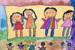 看演出儿童画2幅