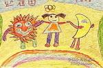 彩虹舞台儿童画作品欣赏