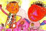 和洋娃娃跳舞儿童画作品欣赏