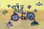多功能自行车儿童画