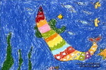 骄傲的天鱼儿童画作品欣赏