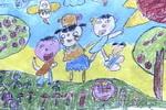 一起扭一扭儿童画作品欣赏