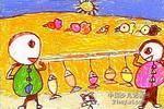 小猫你别吃儿童画作品欣赏