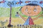 种小树儿童画2幅