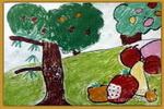 秋天的果实儿童画
