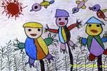 跳舞的草人儿童画
