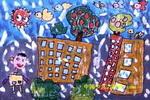 儿童画/楼顶花园儿童画