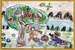 鳄鱼和狮子儿童画