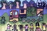 宣传车儿童画