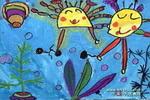 哥俩儿童画作品欣赏