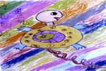 乌龟电话儿童画作品欣赏