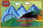 自然风景儿童画