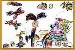 养鱼儿童画
