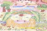 表弟和小牛儿童画