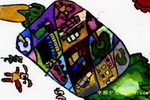 菠萝城市儿童画