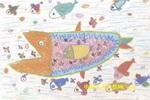 神气的鲨鱼儿童画